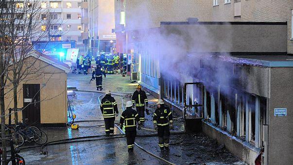 حريق في مسجد في ايسكيلستونا
