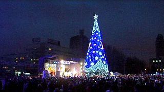 """Ukraine : """"à Donetsk, on souhaite la paix pour 2015"""""""