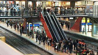 اضراب عمال السكك الحديدية في اسبانيا