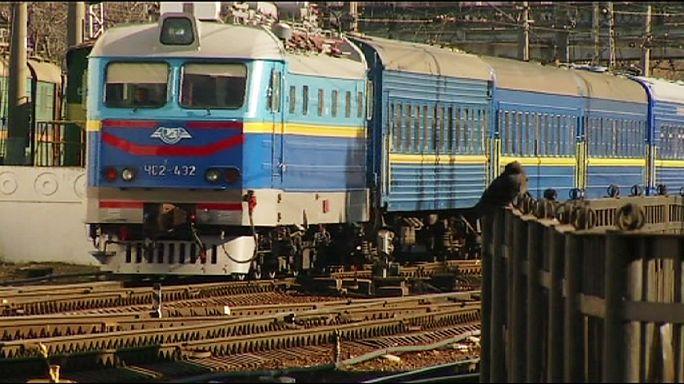 Felfüggesztették az ukrán vonatközlekedést a Krím-félszigetre