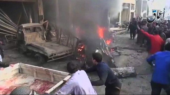 Szörnyű bombázás Szíriában