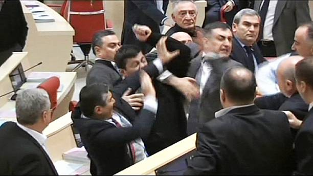 Georgian MPs exchange blows in Boxing Day parliament brawl