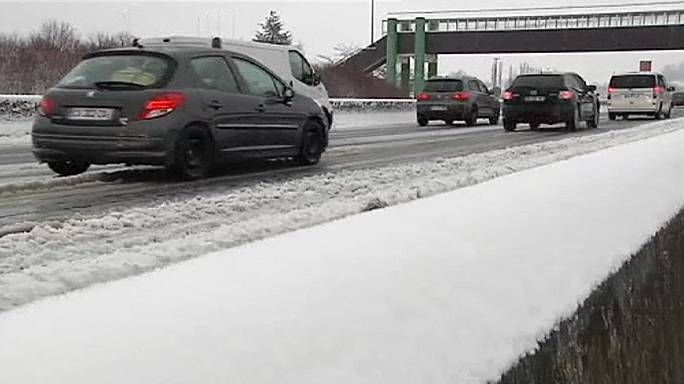 Snow and ice in France disrupts travel