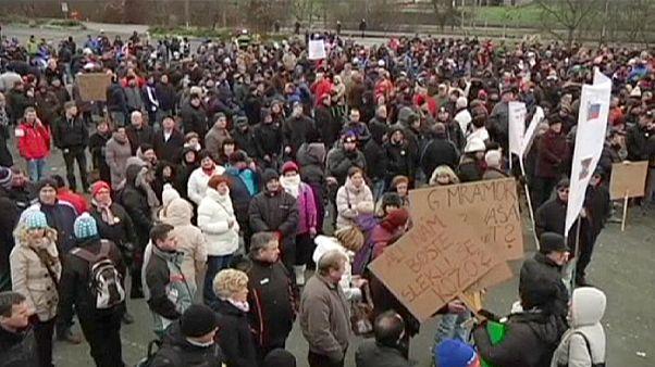 Словения: акция протеста против двойного подоходного налога