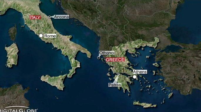 حريق في عبارة إيطالية قبالة سواحل اليونان