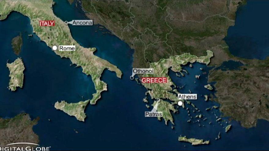 Ferry de passageiros incendiou-se no mar Adriático