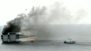 У берегов Греции горит паром, продолжается эвакуация пассажиров