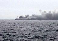 Bad weather hampers evacuation of hundreds on burning ferry