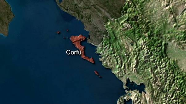 Migrant ship heads from Corfu to Italy
