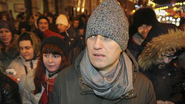 تجمع اعتراضی در مخالفت با محکومیت منتقد پوتین در برابر کاخ کرملین