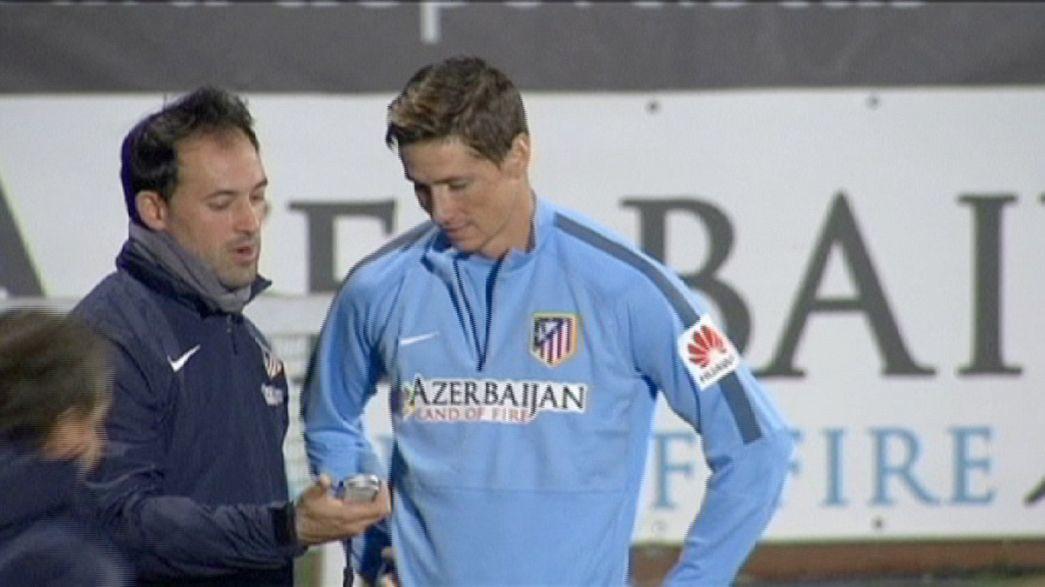 Torres ya entrena con el Atlético de Madrid