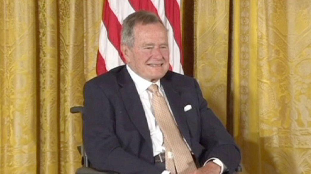 George Bush tem alta hospitalar