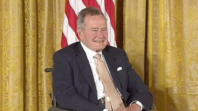 Bush Sr. leaves hospital after breathing difficulties