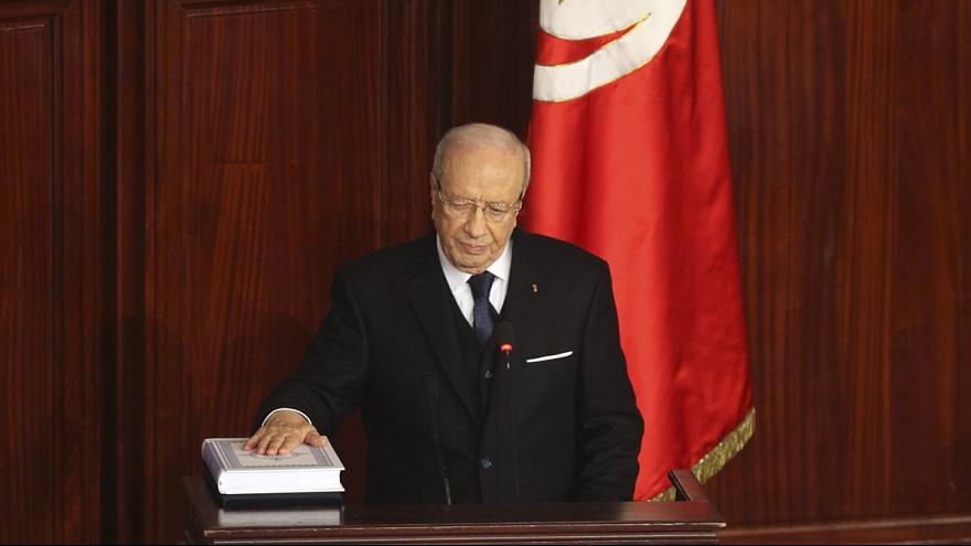 New Tunisian President Essebsi pledges reconciliation