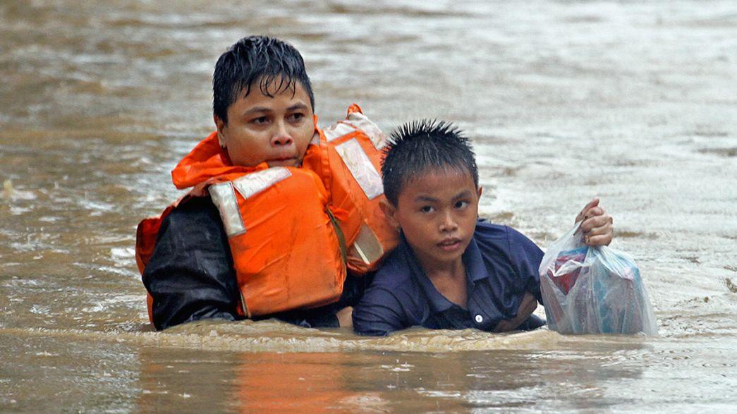 Filipinas, Malásia e Tailândia entram em 2015 com cheias mortíferas