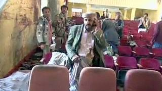 Suicide bomb attack at cultural centre in Yemen leaves more than 20 dead
