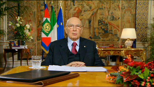 İtalya Cumhurbaşkanı Napolitano bu kez bırakıyor