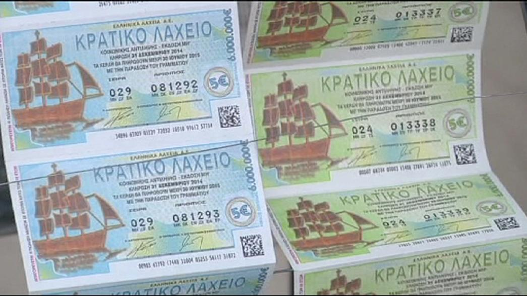 Les billets de loterie du Nouvel An s'arrachent en Grèce