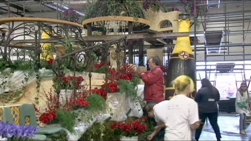 California: Rose parade floats in full bloom for annual event