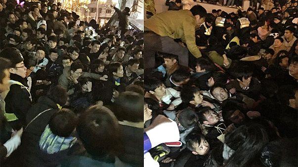 36 muertos y medio centenar de heridos en la avalancha humana de Shanghái