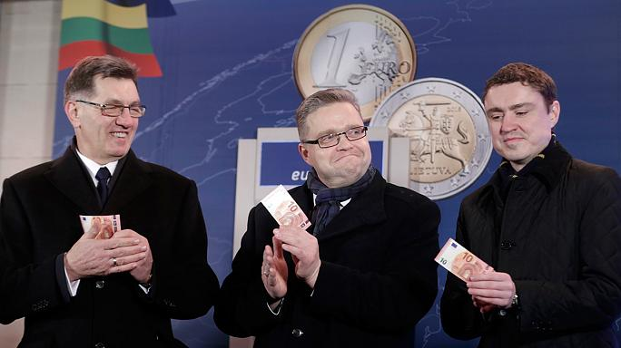Bevezették az eurót Litvániában