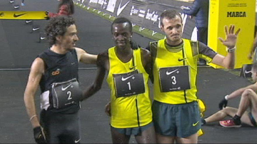 Silvesterlauf in Madrid: Gold für Kenia und England