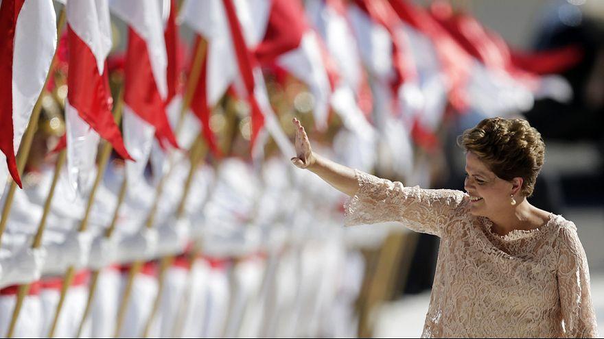 Brazil's Rousseff starts new term under cloud of corruption