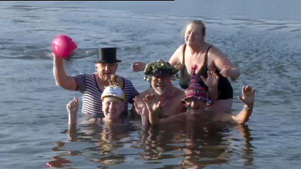 Úszók és futók köszöntik az új esztendőt