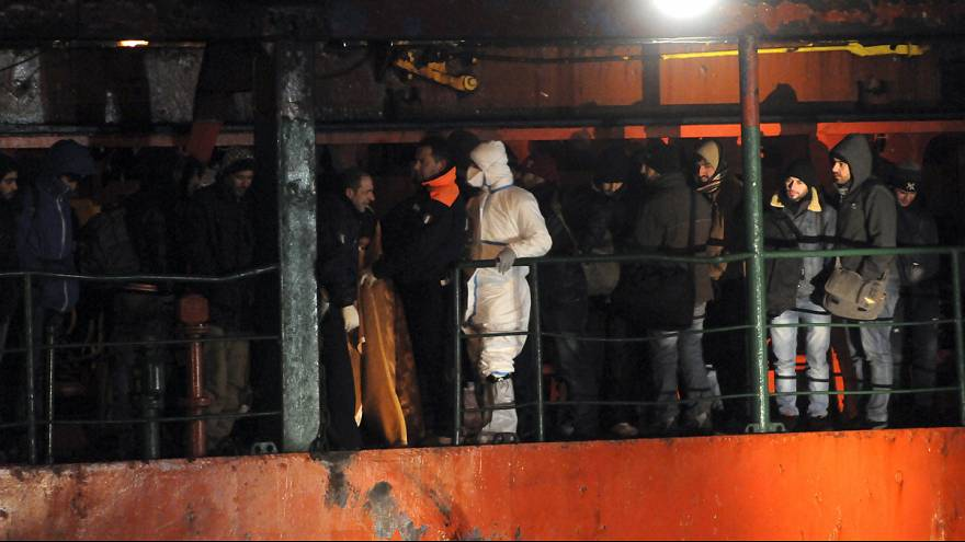 Italian coast guards board new abandoned migrant ship