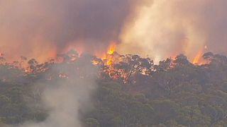 Heiße Temperaturen und starke Winde fachen Feuer in Südaustralien an