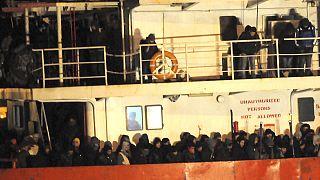 La nave Ezadeen è diretta a Corigliano Calabro