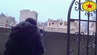 قصف مدفعي كردي لعين العرب- كوباني