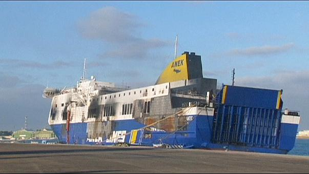 Italian investigators in second inspection of burnt-out Norman Atlantic ferry