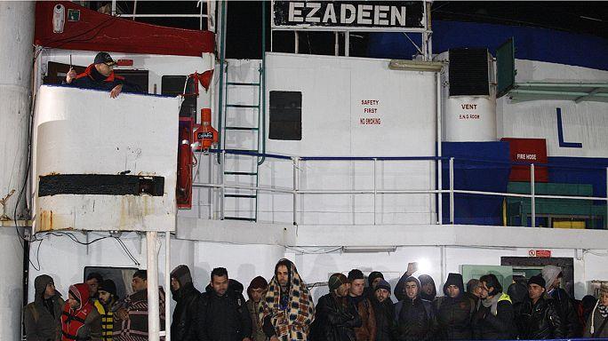 Syrische Flüchtlinge in Italien konnten ihr Frachtschiff nun verlassen