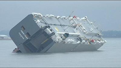 Operation launched to salvage car container ship off southern England