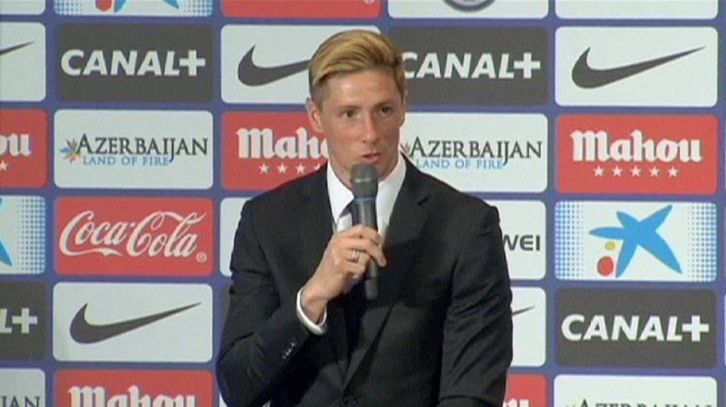 """Do """"9"""" ao """"19"""", 45 mil saúdam regresso de Torres ao Atlético de Madrid"""