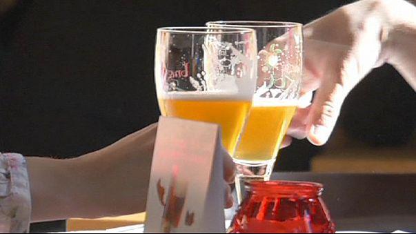 خط أنابيب خاص بالجعة في مدينة بروج البلجيكية