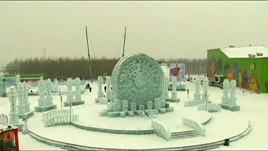 Exposición de esculturas de hielo en China