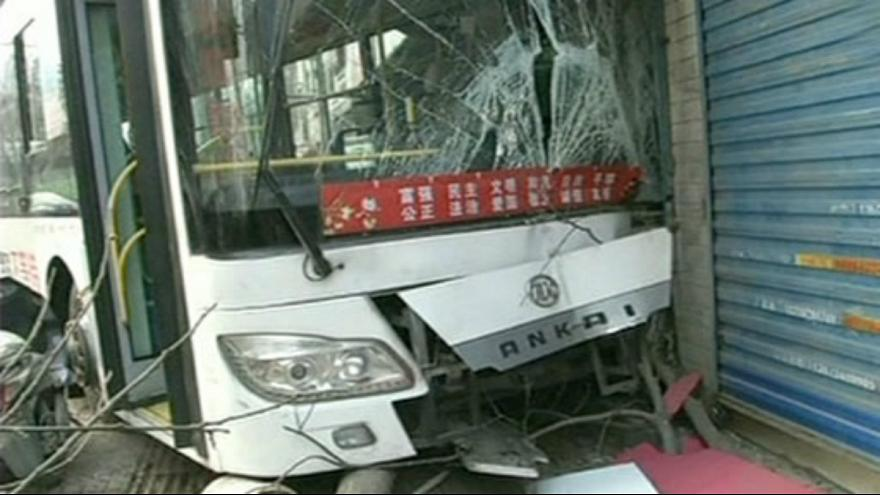 [Watch] Shocking road rage accident: Driver of moving bus dragged away from wheel