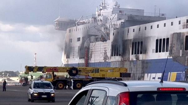 Fire hinders search for victims of Norman Atlantic Ferry
