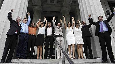 Sunshine and love Florida lifts statewide ban on same- sex marriage