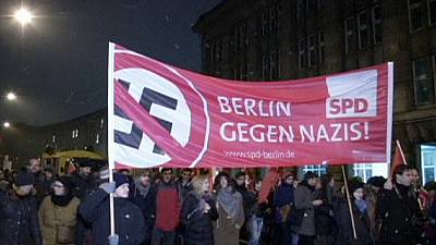 Lights are switched off in cities across Germany in protest against anti-Islam PEGIDA group