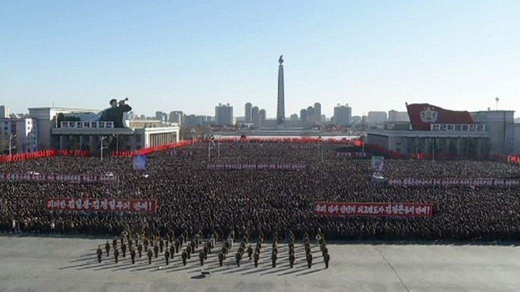 Masivo apoyo al líder norcoreano por su alocución de año nuevo