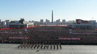 برپایی مراسم اعلام حمایت از رهبری در کره شمالی