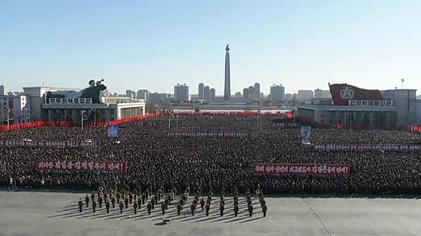 Thousands rally in North Korea in support of Kim Jong-un