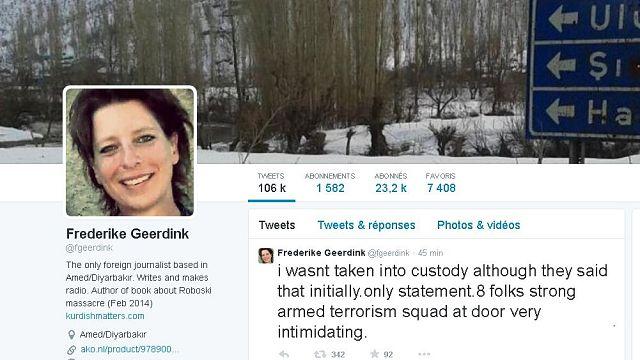 Gözaltına alınan Hollandalı gazeteci Geerdink serbest bırakıldı