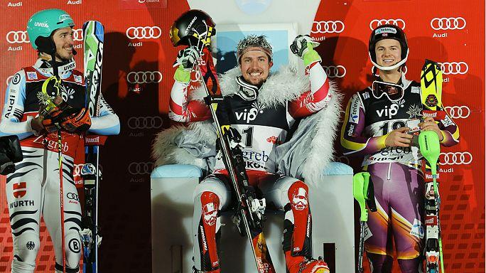 Ski : Hirsher maître incontesté à Zagreb, Kraft triomphe aux quatre tremplins