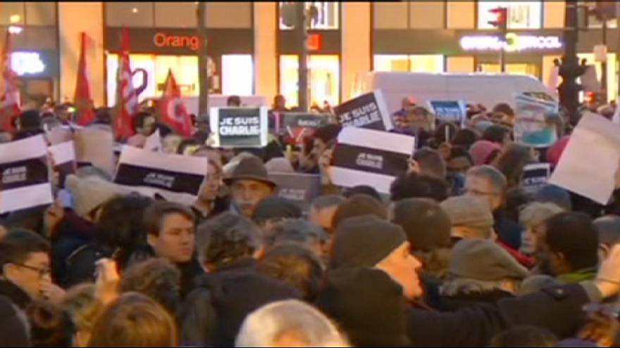 Thousands gather across France for Charlie Hebdo demonstrations