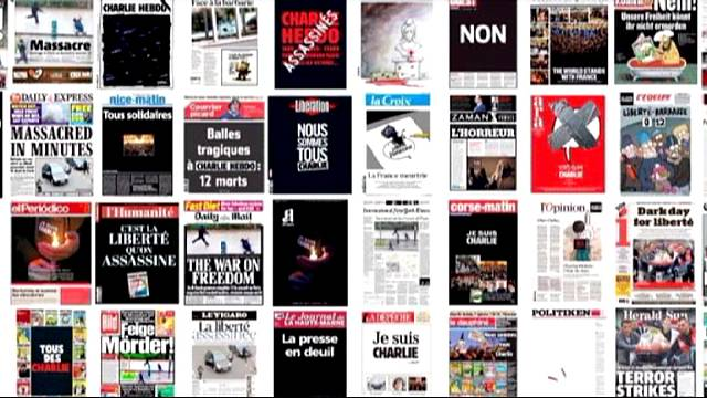 Charlie Hebdo için 72 manşet