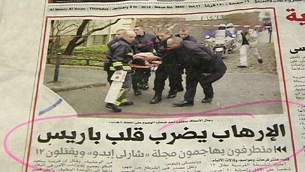 """Egypte : la presse condamne l'attentat contre """"Charlie"""", mais avec des réserves"""